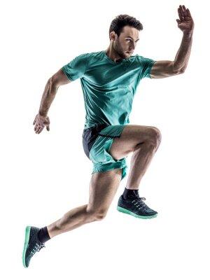Sticker Mann Läufer Jogger ausgeführt isoliert