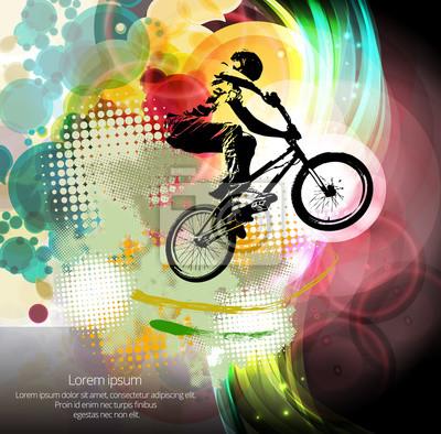 Mann mit BMX Fahrrad