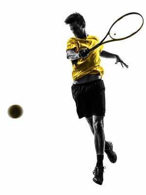 Sticker Mann Tennisspieler silhouette