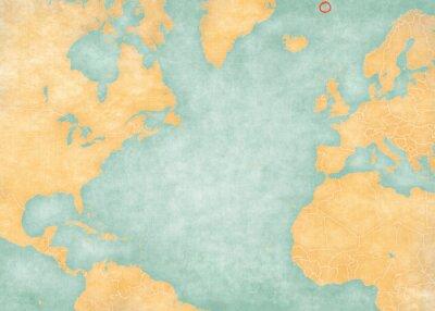 Sticker Map of North Atlantic Ocean - Jan Mayen