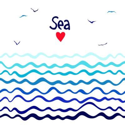 Marine nahtlose horizontalen Hintergrund mit Wellen