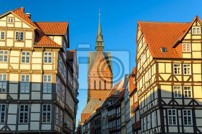 Marktkirche und sterben Altstadt von Hannover im Abendlicht