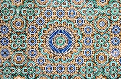 Sticker Marokkanischen Jahrgang Fliesen Hintergrund