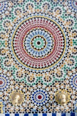 Sticker Marokkanischer Wasserhahn mit detailliertem Mosaik