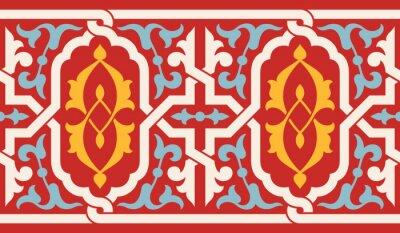 Sticker Marokko Antike Nahtlose Grenze