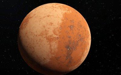 Sticker Mars Scientific Illustration - Planeten-Landschaft