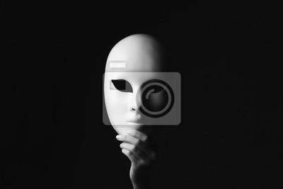 Sticker Maske in hand.halloween
