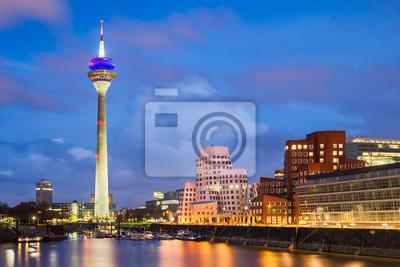 Medienhafen in Düsseldorf, Deutschland