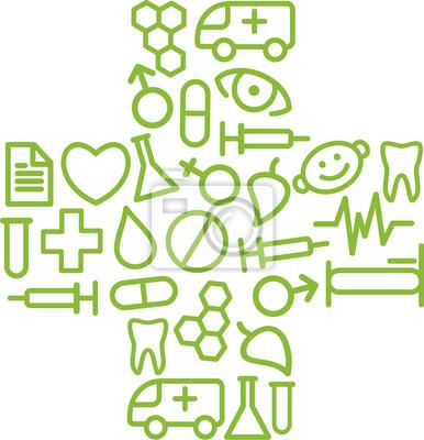 Medizinische Symbol in der Form eines Kreuzes