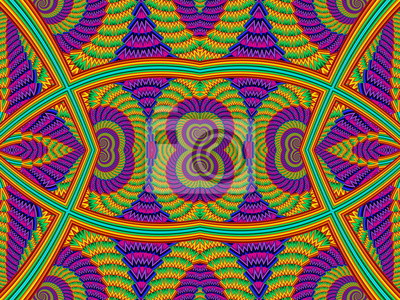 Mehrfarbig Symmetrisch Strukturierte Hintergrund mit Spiralen. Compu