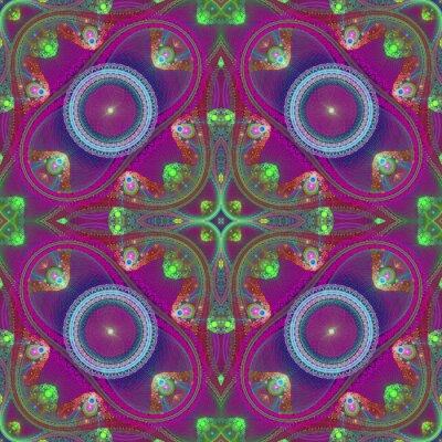 Sticker Mehrfarbige symmetrische Gitter fraktale Muster. Sie können es verwenden