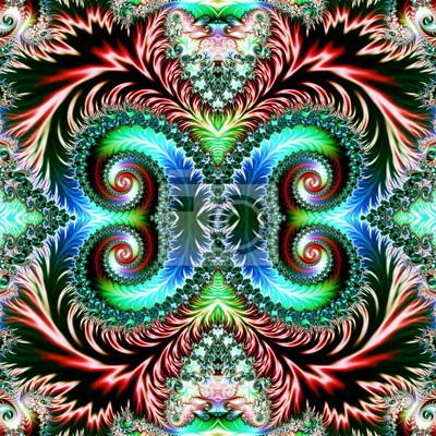 Mehrfarbigen Hintergrund mit Spiral-Muster. Artwork für creativ