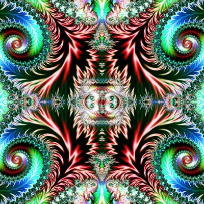 Mehrfarbiger Hintergrund mit gewundenem Muster. Gestaltungsarbeit für creativ