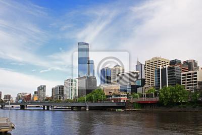 Melbourne Skyline der Stadt