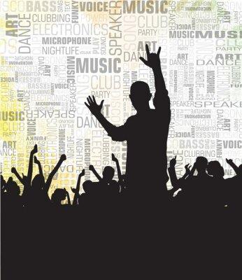 Menschenmenge Jubel an der Musik-Konzert