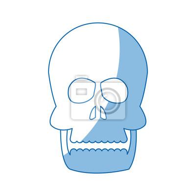 Menschliche schädel anatomie gesundheit front bild vektor ...