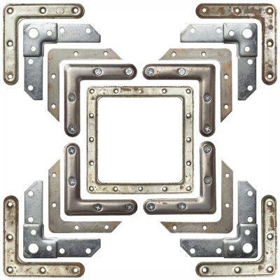 Sticker Metall Ecken