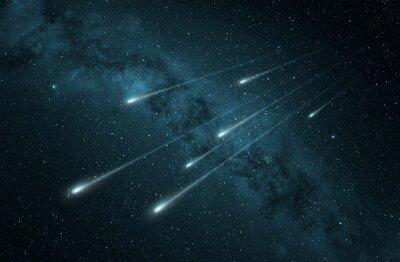 Sticker Meteorschauer im Sternenhimmel