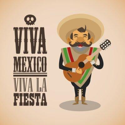 Sticker Mexikanische Kulturentwurf