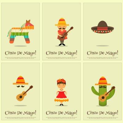 Sticker Mexikanische Plakate