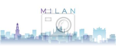 Milan Transparent Layers Gradient Landmarks Skyline