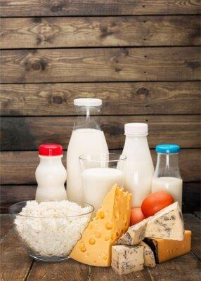 Sticker Milchprodukte.