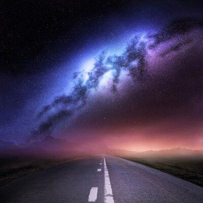 Sticker Milchstraße von der Erde