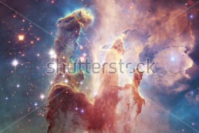Sticker Milliarden von Galaxien im Universum. Abstrakter Raumhintergrund. Elemente dieses Bildes, eingerichtet von der NASA