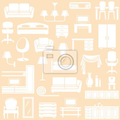 Möbel und Beleuchtungseinrichtungen für das Haus