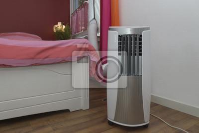 Mobile klimaanlage kühlt das schlafzimmer notebook-sticker ...