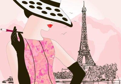 Mode Frau in Paris