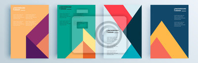 Sticker Modern abstract covers set, minimal covers design. Colorful geometric background, vector illustration.