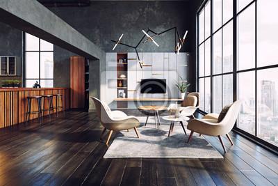 Sticker modern living interior