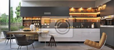 Sticker Modern luxury kitchen interior design
