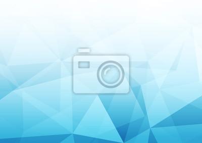 Sticker Moderne abstrakte blaue transparente Kristallmuster-Hintergrundschablone