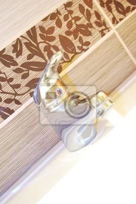 Moderne Badezimmer Armaturen Notebook Sticker Wandsticker