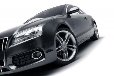 Sticker Moderne schwarze Auto