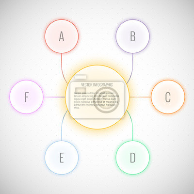modernen Vektor abstrakt blase Infografik
