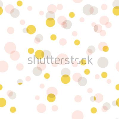 Sticker Moderner abstrakter Vektor-großer Konfetti-Hintergrund. Nahtloses buntes Punktmuster.