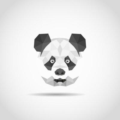 Sticker Moderner Panda im polygonalen Stil