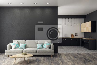 Sticker Modernes Studio Interieur