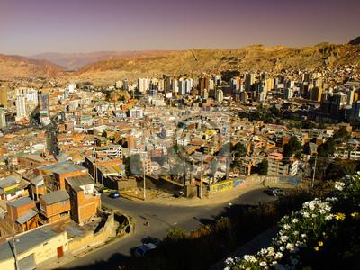 Sticker Modernes Zentrum von La Paz