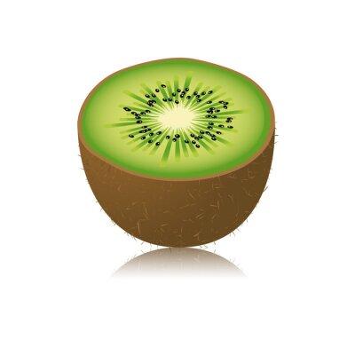 Sticker Moitié de Kiwi