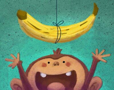 Sticker Mono-y plátano