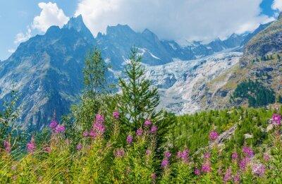 Sticker Mont Blanc Massive Landschaft