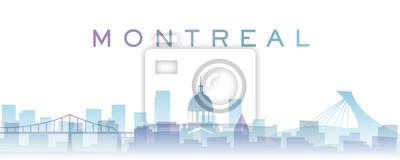 Montreal Transparent Layers Gradient Landmarks Skyline