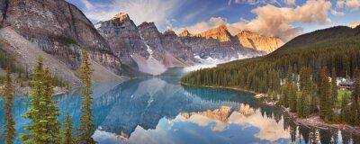 Sticker Moraine Lake bei Sonnenaufgang, Banff-Nationalpark, Kanada