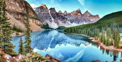 Sticker Moraine See-Panorama im Banff-Nationalpark, Alberta, Kanada