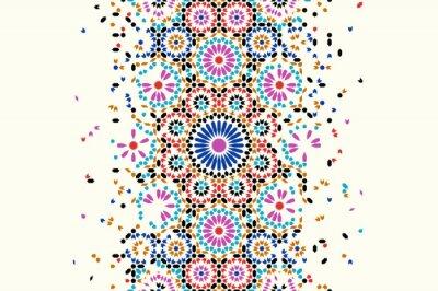 Sticker Morocco disintegration template