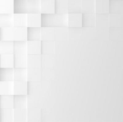 Sticker Mosaik quadratischen Hintergrund. Abstraktes geometrisches minimalistisches Abdeckungsdesign. Vektorgrafik.